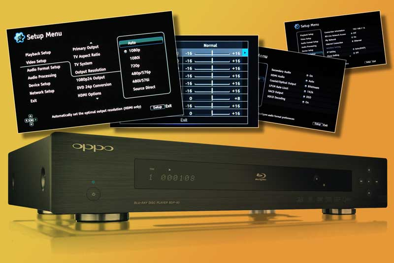 Setting up a Blu-ray Disc player