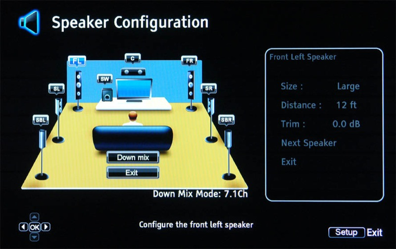 speaker setup level