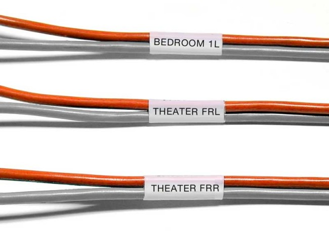 speaker cable labels